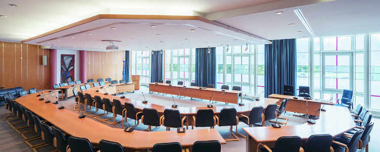 Ratssaal der Kreisstadt Unna