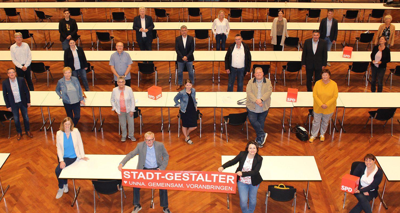 Ratskandidatinnen und -kandidaten der SPD Unna